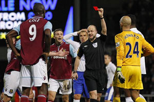 carlton cole sending off