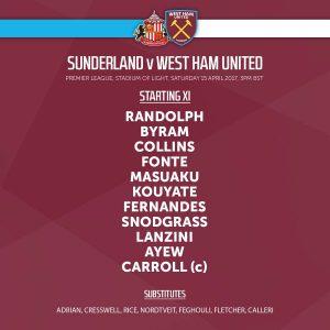 Sunderland West Ham