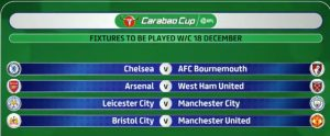 Arsenal v West Ham in Carabao Cup