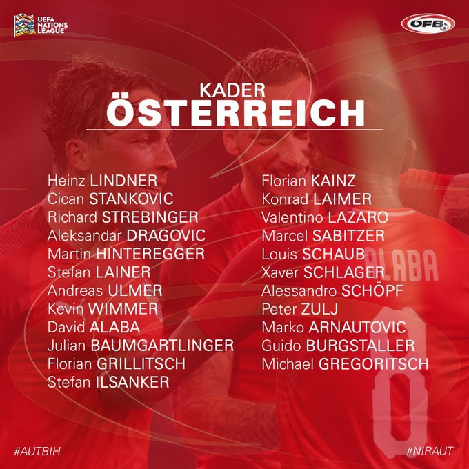 Arnie Called up for Austria