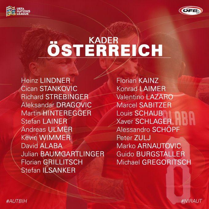 Arnie Called up for Austria
