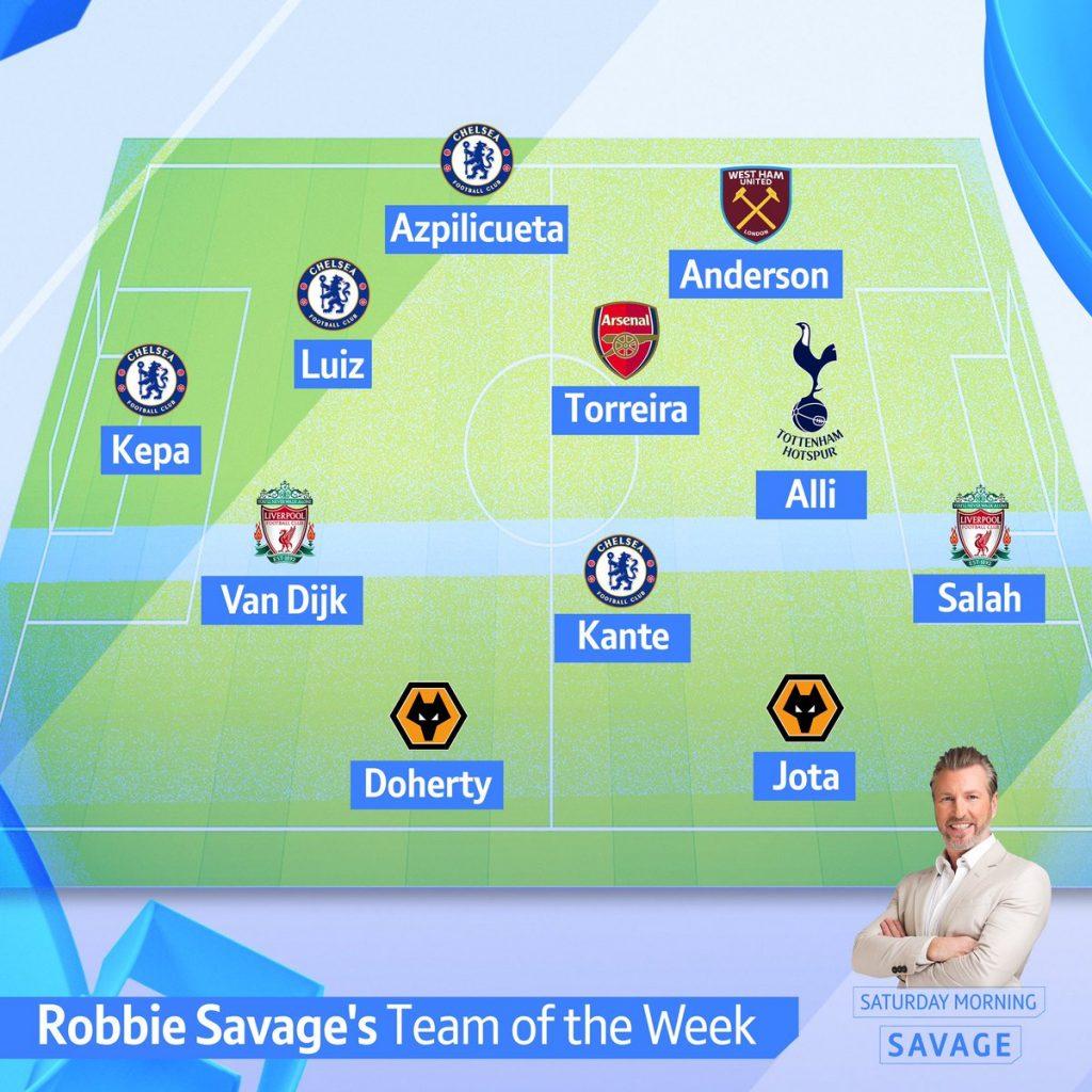 Savage Team of the Week
