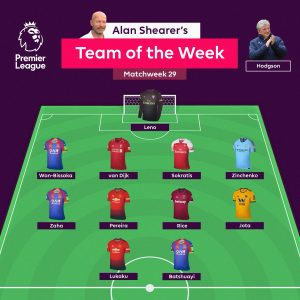 Premier League Team of the Week GW29 Rice