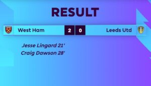 West Ham 2-0 Leeds